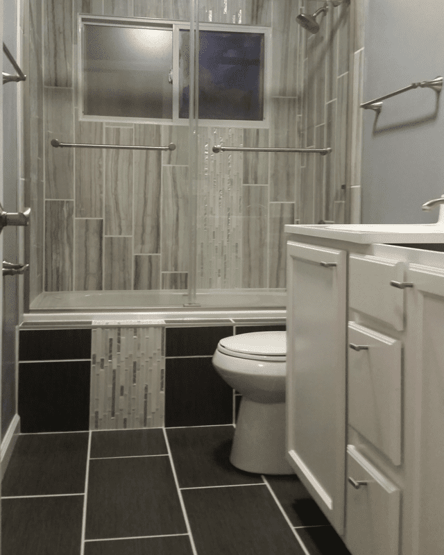 get a modern looking bathroom with built to last in west lafayette